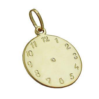 Colgante de oro colgantes 375 reloj bautismo, nacimiento de trailer de reloj de oro de 9 KT