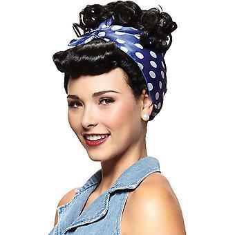Rivetor czarna peruka dla kobiet