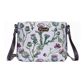 Thistle shoulder crossbody bag by signare tapestry / xb02-this