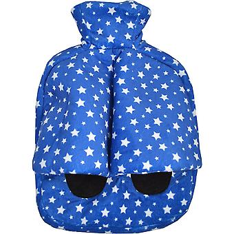 Foot Warmer Hot Water Bottle Slipper: Blue Stars