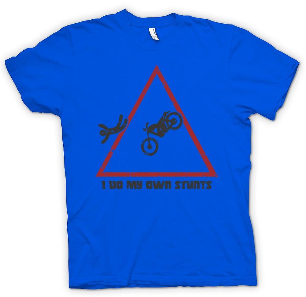 Heren T-shirt - Motocross - ik doe mijn eigen Stunts