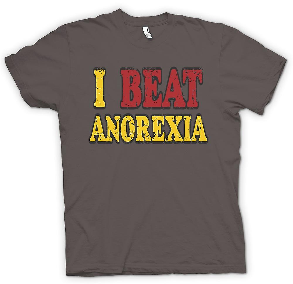 Mens T-shirt - j'ai battu anorexie - drôle