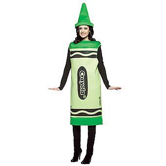 Crayola kitzeln mich grüne Kreide Farbe Kunst Geburtstag Party Damen Kostüm S/M