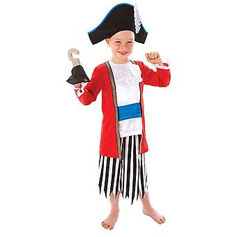 Garçons Captain Pirate Fancy Dress Costume