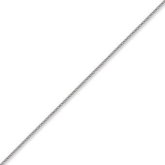 Jewelco London Unisex Solid 9ct White Gold Diamond Cut Curb 1.4mm Gauge Pendant Chain Necklace