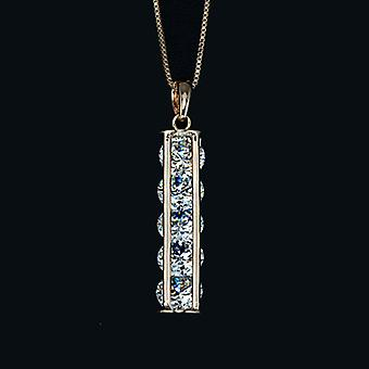 18K Rose Gold Plated 5 Pieces 2 Carat Cubic Zirconia Stack Pendant