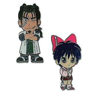 Pin Set - MAR - Nuova neve principessa & Alan (Set di 2) Anime Licensed ge7427