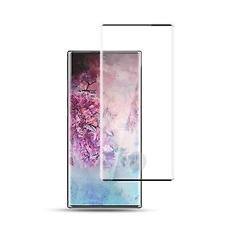 Para Samsung Galaxy Note 10 N970F 1x 4D Premium 0.3 mm H9 curvo rígido de vidro preto folha protetora caso novo