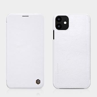 Protection Case Faux Leather Flipcase Cover pour Apple iPhone 11 6.1 Pouces Cas blanc