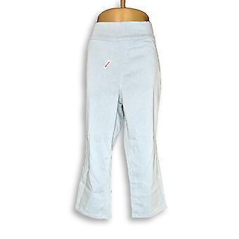 Denim & Co. Women's Plus Pants 18 Indigo Soft Stretch Smooth Blue A349147
