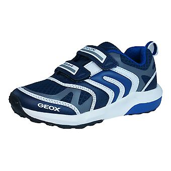Geox Trainers J Asteroid B Boys Shoes - Navy Blue