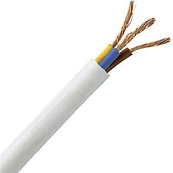 Flexible cable H05VV5-F 3 G 1 mm² White Kopp 151705847 5 m