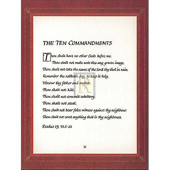 The Ten Commandments Poster Print (8 x 10)