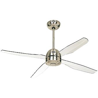 Fan CasaFan Libelle Chrome a soffitto con telecomando