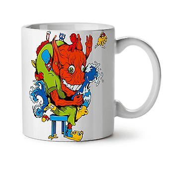 Galna Monster Party Devil liv NYA vitt te kaffe keramik mugg 11 oz | Wellcoda