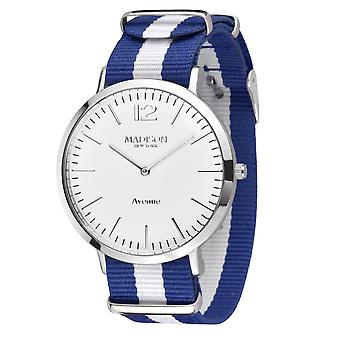 MADISON NEW YORK Unisex ur armbåndsur Avenue tekstil G4741F1