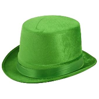 Green Velour Top Hat