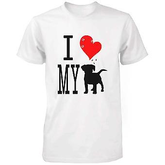 Cute Graphic Statement T-Shirt - I Love My Dog White Graphic Tee