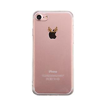 Rudolph Horn On Apple Transparent Phone Case Cute Clear Phonecase
