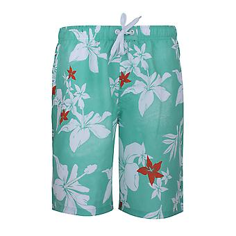 GLO STORY flower Beach short shorts men's swim shorts green MTK-8590