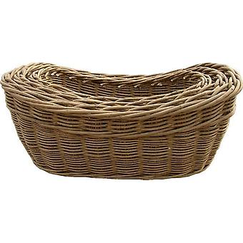 Set of 3 Harvest Log Baskets