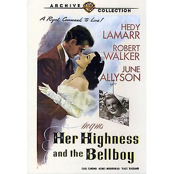 Her Highness & the Bellboy [DVD] USA import