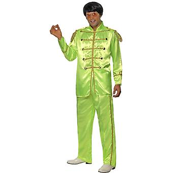 Sergeant pepper Beatles costume 60s hippie Gr. Green M