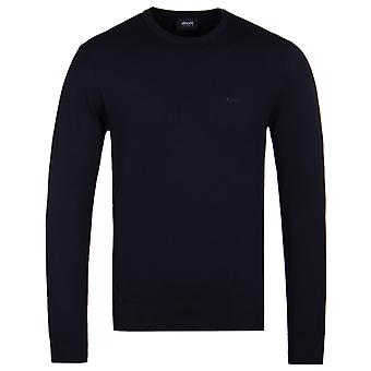 Armani Jeans Blue Notte Regular Fit Knitted Sweater
