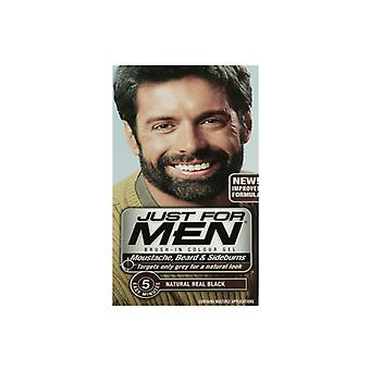 Just For Men 3 X Just For Men Brush In Colour Gel Real Black (M55) Facial Hair Colour