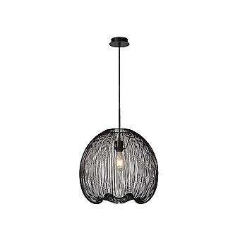 Lucide WIRIO Black Oval Cage Ceiling Pendant