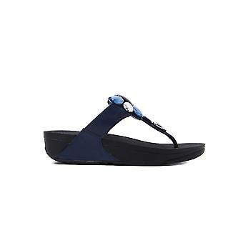 FitFlop Women's Honeybee Jewelled Sandals - Midnight Navy Leather
