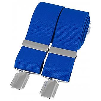 David Van Hagen Classic Plain Braces - Royal Blue