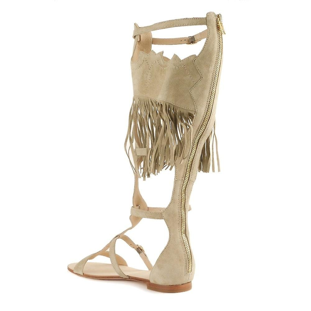Ash Fringed Sandal Footwear Margot Beige SraSq