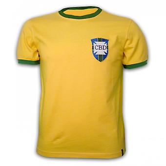 Brazil WC 1970 Short Sleeve Retro Shirt 100% cotton