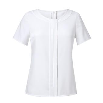 Brook Taverner Womens/Ladies Felina Crepe De Chine Short Sleeve Blouse