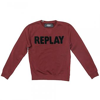 Replay Replay Cotton Mens Sweatshirt With Patches M3436A.000.21842