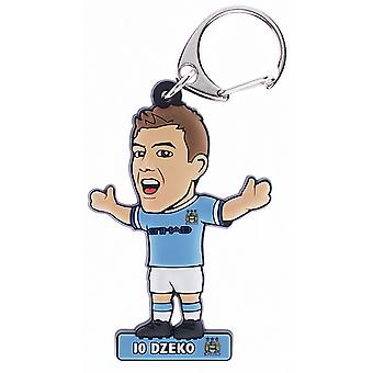 Manchester City FC Official Edin Dzeko PVC Football Player Keyring