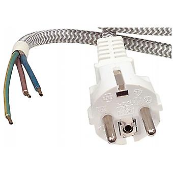 Fixapart mains cable 3 x 0.75 mm ² 3.00 m Schuko/Type F (CEE 7/7) White
