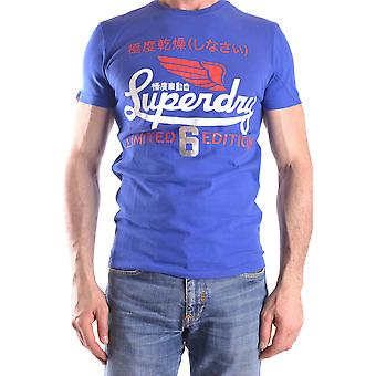 Superdry mens MCBI371015O Blau cotton T-Shirt
