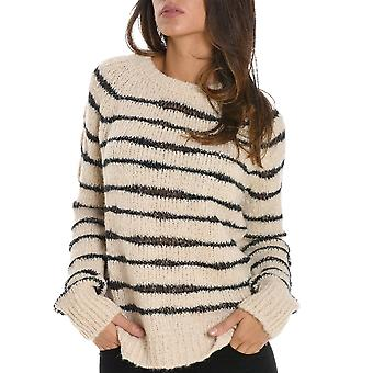 Pinko women's 1J105KY3TAZZ1 beige/black Wool Sweater
