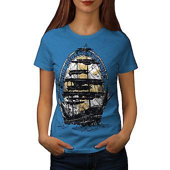 Schiff Flagge Meer Mode Frauen königlichen BlueT-Hemd | Wellcoda