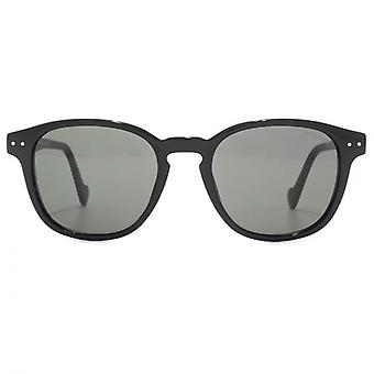 Moncler Classic Keyhole Sunglasses In Shiny Black