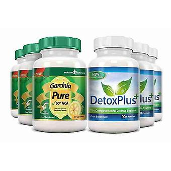 Garcinia Pure 100% Garcinia Cambogia and Colon Cleanse Combo - 3 Month Supply - Fat Burner and Colon Cleanse - Evolution Slimming