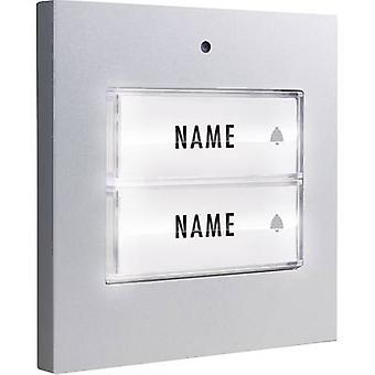 Bell button backlit, with nameplate Semi-detached m-e modern-electronics