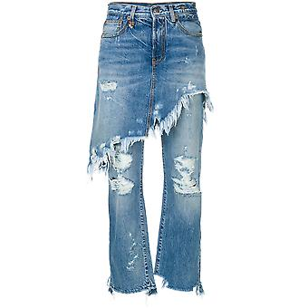 R13 women's R13W0195149 light blue cotton of jeans