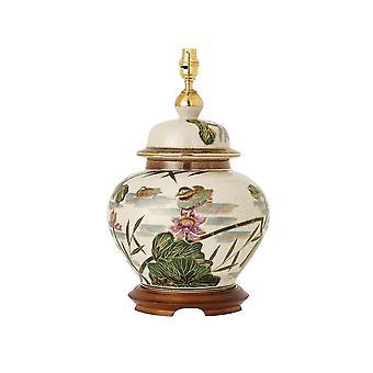 Canards de Kutani intérieurs 1900 simple lampe de Table en céramique grande lumière