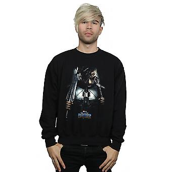 Marvel Men's Black Panther Erik Killmonger Poster Sweatshirt