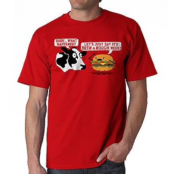 Humor Rough Week Men's Red T-shirt