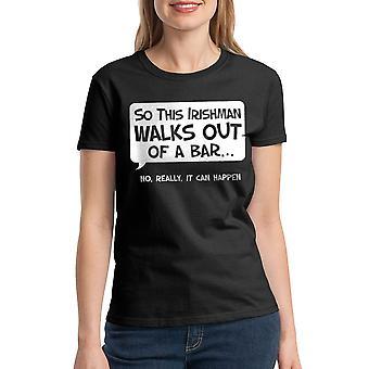Humor So An Irishman Women's Black T-shirt