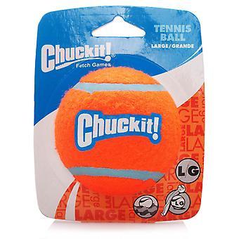 Chuckit hond Tennis bal grote 7,3 cm over, 1 per pak, een Must Have hond speelgoed
